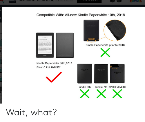 Compatible With All-New Kindle Paperwhite 10th 2018 Kindle