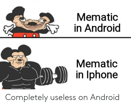 Android: Completely useless on Android
