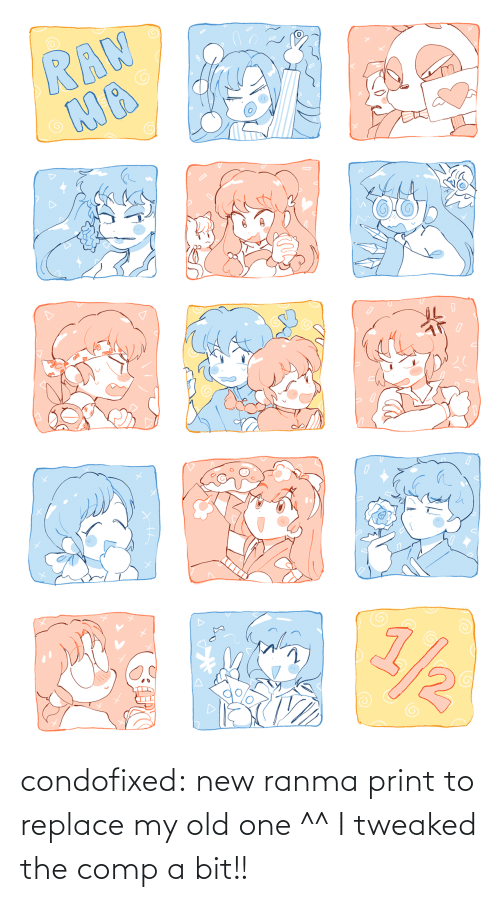 Replace: condofixed:  new ranma print to replace my old one ^^ I tweaked the comp a bit!!