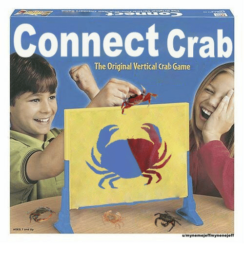 Game, Crab, and The Original: Connect Crab  The Original Vertical Crab Game  umynemejeffmynenejeft