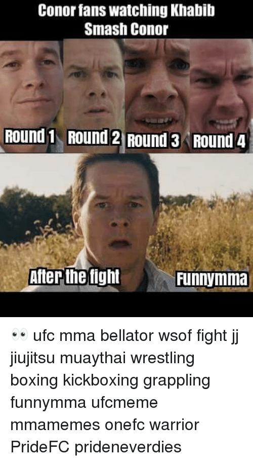 Bellator: Conor fans watching Khabib  Smash Conor  Round 1 ROUnd 2 Round 3 Round 4  After the fight 👀 ufc mma bellator wsof fight jj jiujitsu muaythai wrestling boxing kickboxing grappling funnymma ufcmeme mmamemes onefc warrior PrideFC prideneverdies