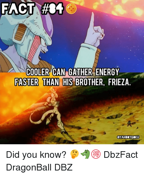 Frieza: COOLER CAN GATHER ENERGY  FASTER THAN HIS BROTHER, FRIEZA Did you know? 🤔🐲🉐 DbzFact DragonBall DBZ