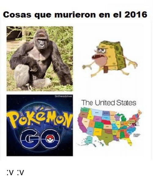 Memes, United, and The Unit: Cosas que murieron en el 2016  The United States :v  :v