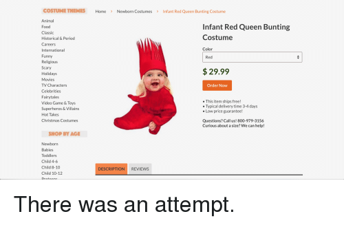 costume themes home newborn costumesinfant red queen bunting costume