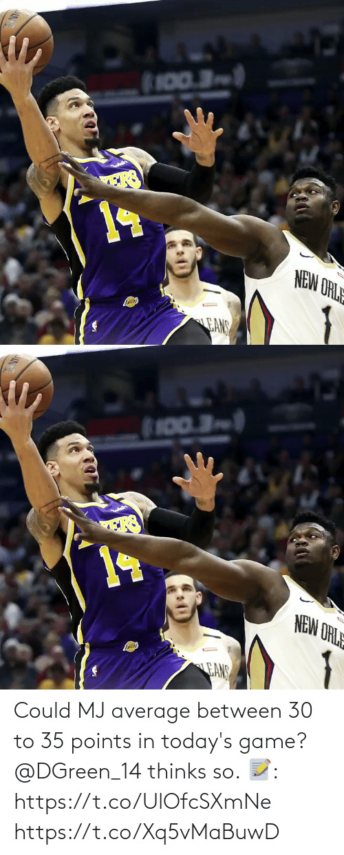 average: Could MJ average between 30 to 35 points in today's game?  @DGreen_14 thinks so.  📝: https://t.co/UlOfcSXmNe https://t.co/Xq5vMaBuwD