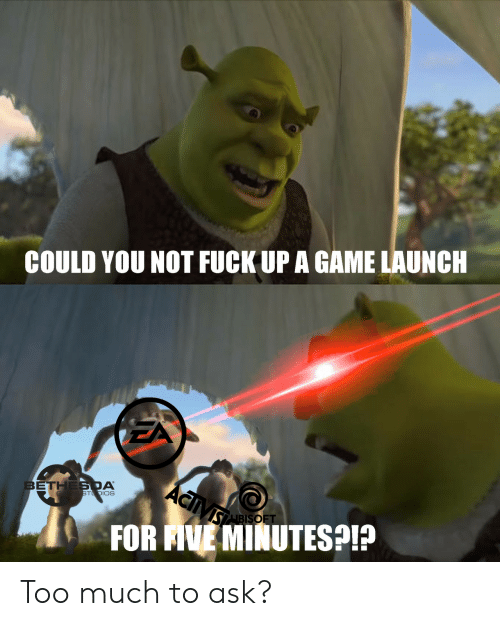 Launch: COULD YOU NOT FUCK UP A GAME LAUNCH  ACiVs  BETHES DA  GA E STDIOS  SABISOFT  FOR AVE MINUTESP Too much to ask?
