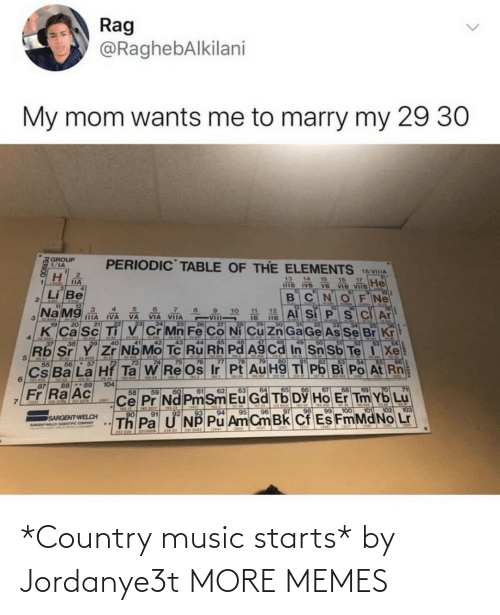 Starts: *Country music starts* by Jordanye3t MORE MEMES