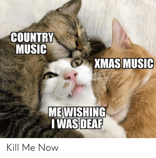 kill me: COUNTRY  MUSIC  XMAS MUSIC  MEWISHING  I WAS DEAF Kill Me Now