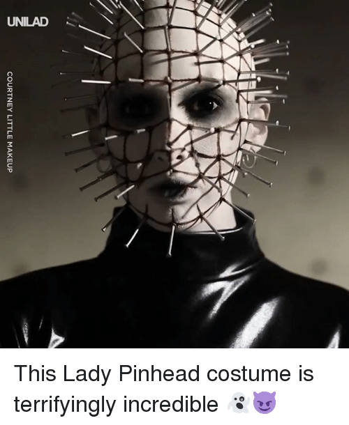 courtney: COURTNEY LITTLE MAKEUP This Lady Pinhead costume is terrifyingly incredible 👻😈