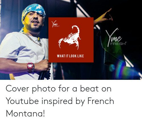 French Montana: Cover photo for a beat on Youtube inspired by French Montana!