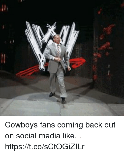 Dallas Cowboys, Football, and Nfl: Cowboys fans coming back out on social media like... https://t.co/sCtOGiZILr