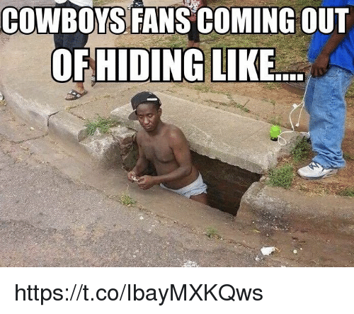Dallas Cowboys, Like, and Coming: COWBOYS FANS COMING OUT  OFHIDING LIKE https://t.co/IbayMXKQws