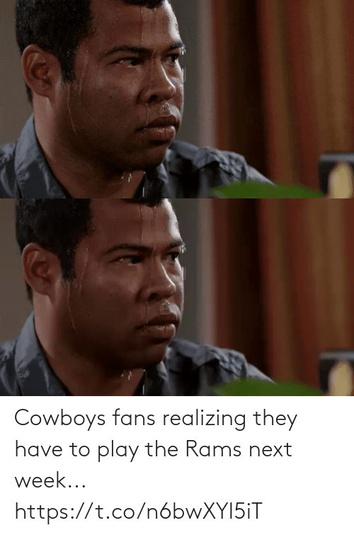 Dallas Cowboys: Cowboys fans realizing they have to play the Rams next week... https://t.co/n6bwXYI5iT