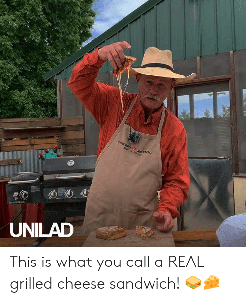 Dank, 🤖, and Cheese: COYBOY  cooxING  KEEP THE FIs  UNILAD This is what you call a REAL grilled cheese sandwich! 🥪🧀