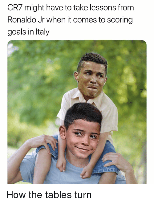Goals, Soccer, and Sports: CR7 might have to take lessons from  Ronaldo Jr when it comes to scoring  goals in Italy How the tables turn