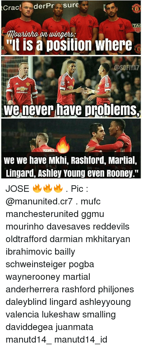 "Memes, Martial, and Ashley Young: Crac  derPr  Sure  TA  Ourinho on ulingers:  'It IS a DOSition Where  We never have problems,  We we have Mkhi, Rashford, Martial,  Lingard, Ashley Young even ROoney."" JOSE 🔥🔥🔥 . Pic : @manunited.cr7 . mufc manchesterunited ggmu mourinho davesaves reddevils oldtrafford darmian mkhitaryan ibrahimovic bailly schweinsteiger pogba waynerooney martial anderherrera rashford philjones daleyblind lingard ashleyyoung valencia lukeshaw smalling daviddegea juanmata manutd14_ manutd14_id"