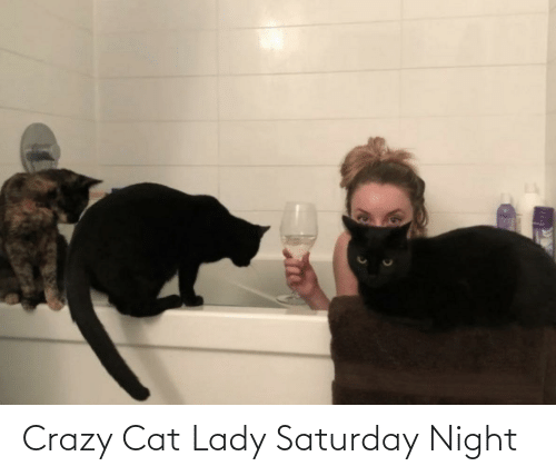 saturday: Crazy Cat Lady Saturday Night