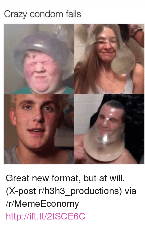 "Condom Fails: Crazy condom fails <p>Great new format, but at will. (X-post r/h3h3_productions) via /r/MemeEconomy <a href=""http://ift.tt/2tSCE6C"">http://ift.tt/2tSCE6C</a></p>"