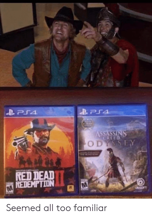 Creed, Red Dead Redemption, and Red Dead: CREED  O D  RED DEAD  REDEMPTION Seemed all too familiar