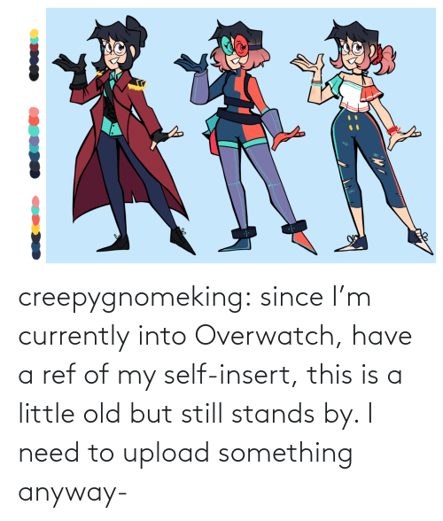 Target, Tumblr, and Blog: creepygnomeking:  since I'm currently into Overwatch, have a ref of my self-insert, this is a little old but still stands by. I need to upload something anyway-