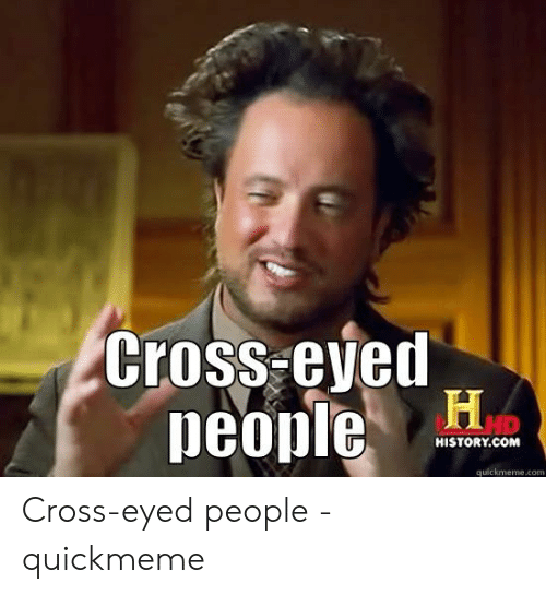 Pictures of cross eyed people