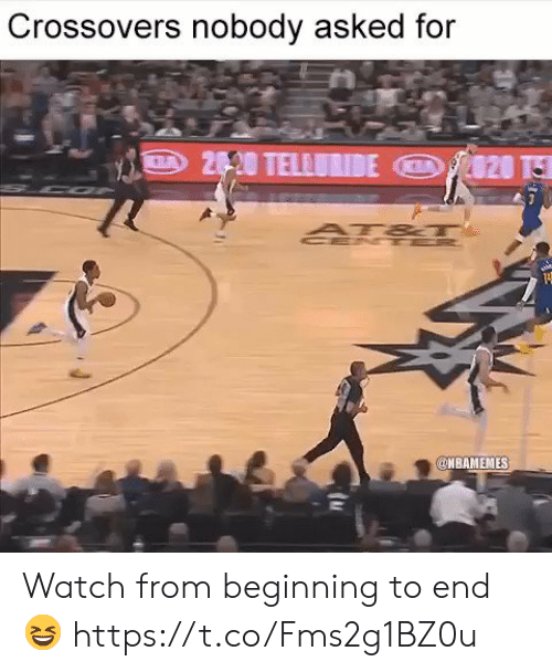 Watch, For, and End: Crossovers nobody asked for  NBAMEMES Watch from beginning to end 😆 https://t.co/Fms2g1BZ0u