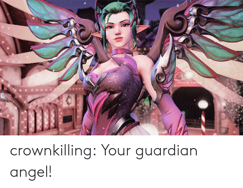 Tumblr, Angel, and Blog: crownkilling:  Your guardian angel!