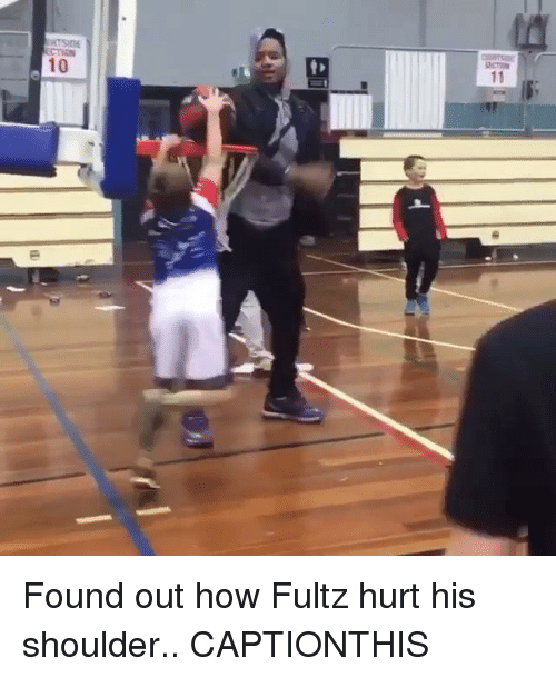 Nba, How, and  Hurt: CTION  10 Found out how Fultz hurt his shoulder.. CAPTIONTHIS