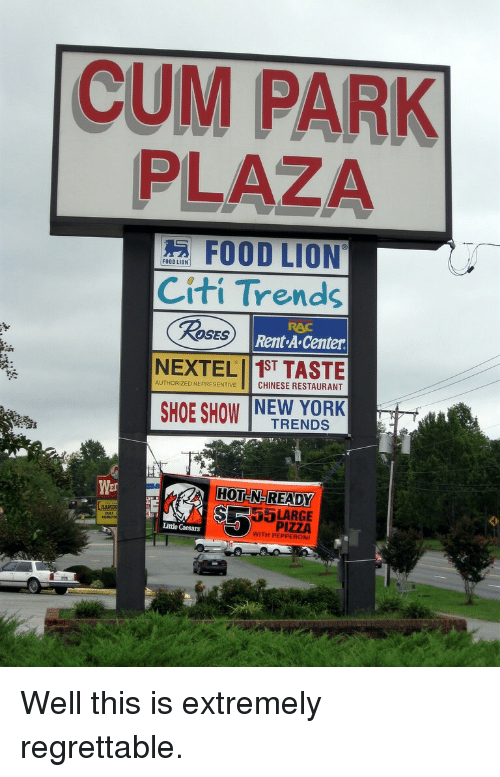 chinese restaurant: CUM PARK  PLAZA  FOOD LION  Citi Trends  Rent A Center  RAC  ROSES  AUTHORIZED REPRESENTIVE CHINESE RESTAURANT  SHOE SHOW NEW YORK  TRENDS  HOT N-READY  SR5LARGE  Wer  LAMDU  PIZZA  WITH PEPPEROI  Little Caesars <p>Well this is extremely regrettable.</p>