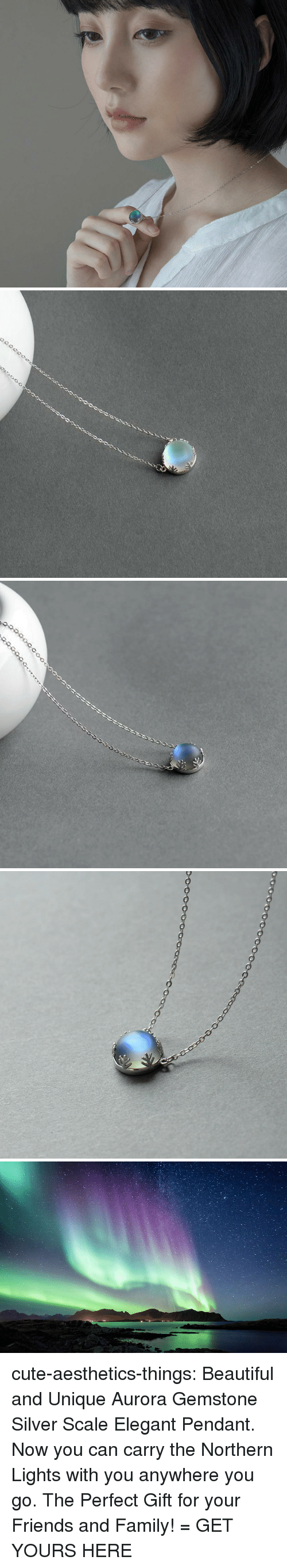 Beautiful, Cute, and Family: cute-aesthetics-things: Beautiful and Unique Aurora Gemstone Silver Scale Elegant Pendant. Now you can carry the Northern Lights with you anywhere you go. The Perfect Gift for your Friends and Family! = GET YOURS HERE