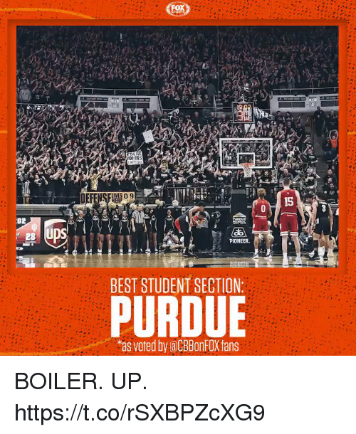 purdue: CUVES 09  HERF  15  02  PIONEER  BEST STUDENT SECTION:  PURDUE  as voted by aCBBonFOX fans BOILER. UP. https://t.co/rSXBPZcXG9