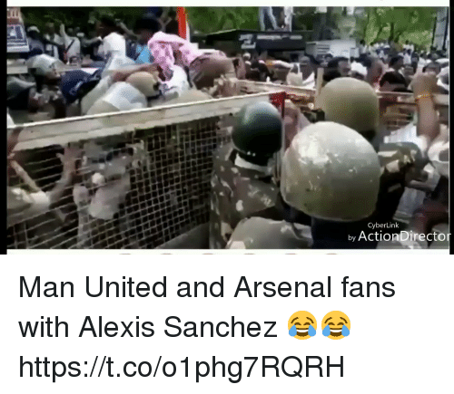 Arsenal Fans: CyberLink  by ActionDirecto Man United and Arsenal fans with Alexis Sanchez 😂😂 https://t.co/o1phg7RQRH