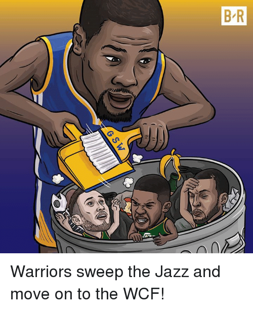Anal, Warriors, and Jazz: D  AS  BR  lum)ANAL  /G  atul Warriors sweep the Jazz and move on to the WCF!