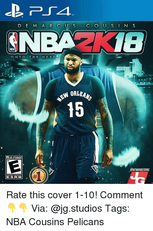 Memes, Covers, and 🤖: D E MARC  U C O U S I N S  NBA  ON TO  THE  IN E X T  ORLEANS  15  OJG STUDIOS  GHITMANDESIGINS  CONTENTRATEDBY  IES RRB Rate this cover 1-10! Comment 👇👇 Via: @jg.studios Tags: NBA Cousins Pelicans