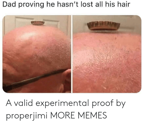Dad, Dank, and Memes: Dad proving he hasn't lost all his hair A valid experimental proof by properjimi MORE MEMES