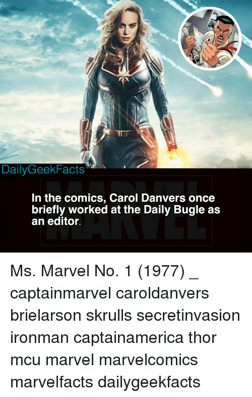 Dailygeekfacts In The Comics Carol Danvers Once Briefly Worked At