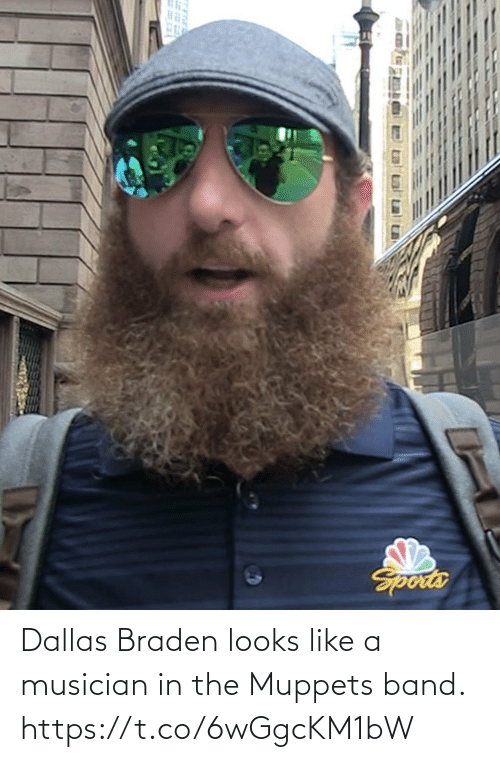 Band: Dallas Braden looks like a musician in the Muppets band. https://t.co/6wGgcKM1bW