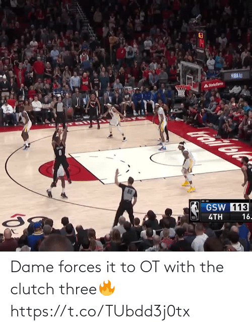 It: Dame forces it to OT with the clutch three🔥 https://t.co/TUbdd3j0tx