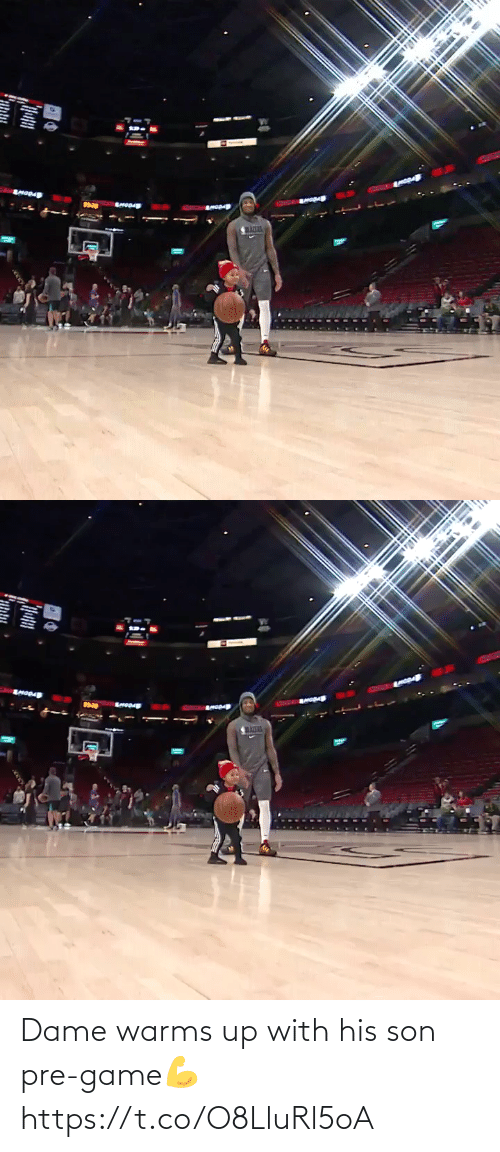 Game: Dame warms up with his son pre-game💪 https://t.co/O8LluRl5oA