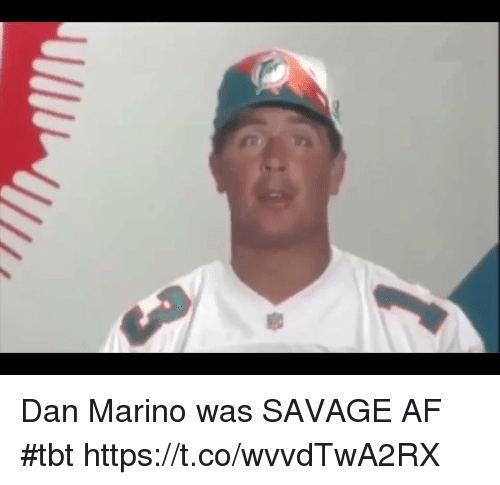Sizzle: Dan Marino was SAVAGE AF #tbt https://t.co/wvvdTwA2RX
