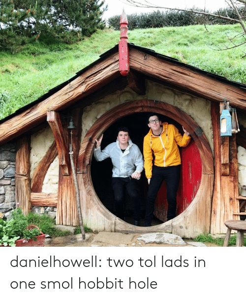Hobbit: danielhowell:  two tol lads in one smol hobbit hole
