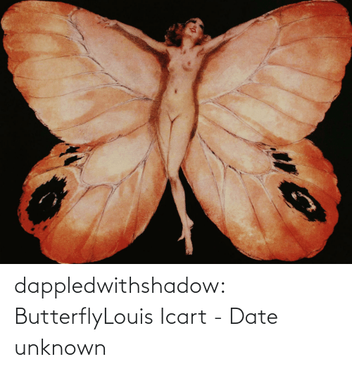 Date: dappledwithshadow:  ButterflyLouis Icart - Date unknown
