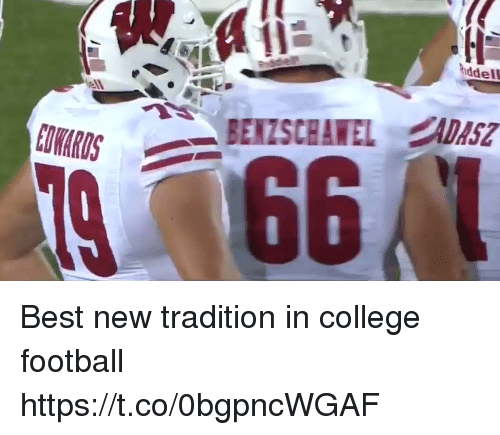 College football: ddel  ell Best new tradition in college football  https://t.co/0bgpncWGAF