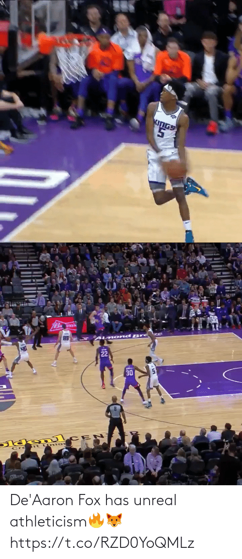 fox: De'Aaron Fox has unreal athleticism🔥🦊  https://t.co/RZD0YoQMLz