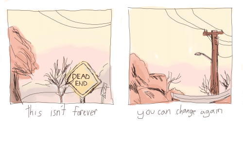 Forever, Dead End, and Con: DEAD  END  his isnt forever  S ISnT  u con Chng an
