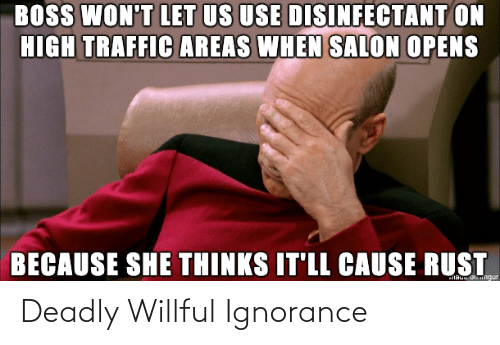 Willful Ignorance: Deadly Willful Ignorance