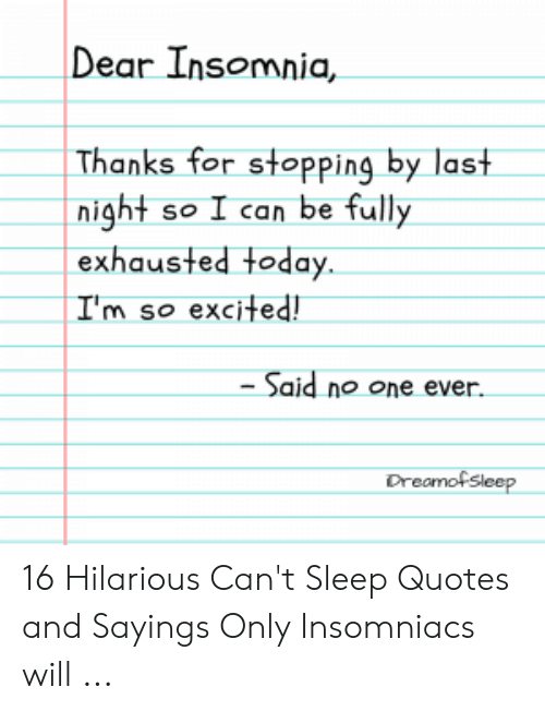 🅱️ 25+ Best Memes About Cant Sleep Quotes | Cant Sleep ...
