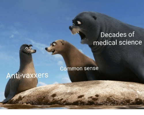Common, Science, and Common Sense: Decades of  medical science  Common sense  Anti-vaxxers