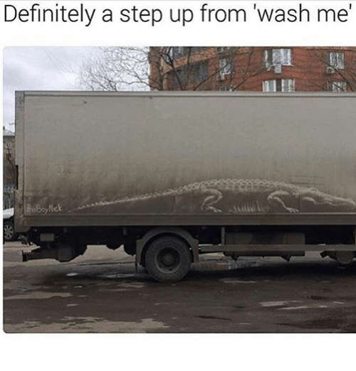 step ups: Definitely a step up from wash me