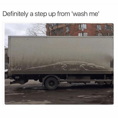 step ups: Definitely a step up from wash me  Nick